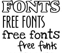 Where can I find free fonts?