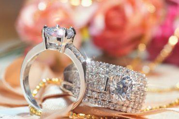 Diamond rings close-up