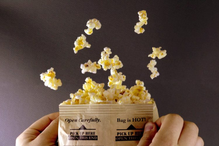 Bag of microwave popcorn