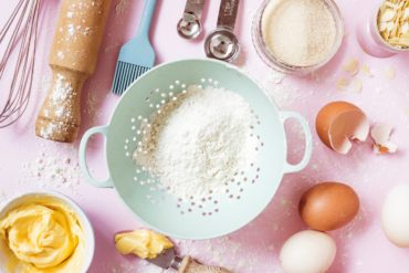Baking ingredients and cup measures