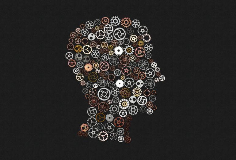 Brain cogwheels - Genius and IQ