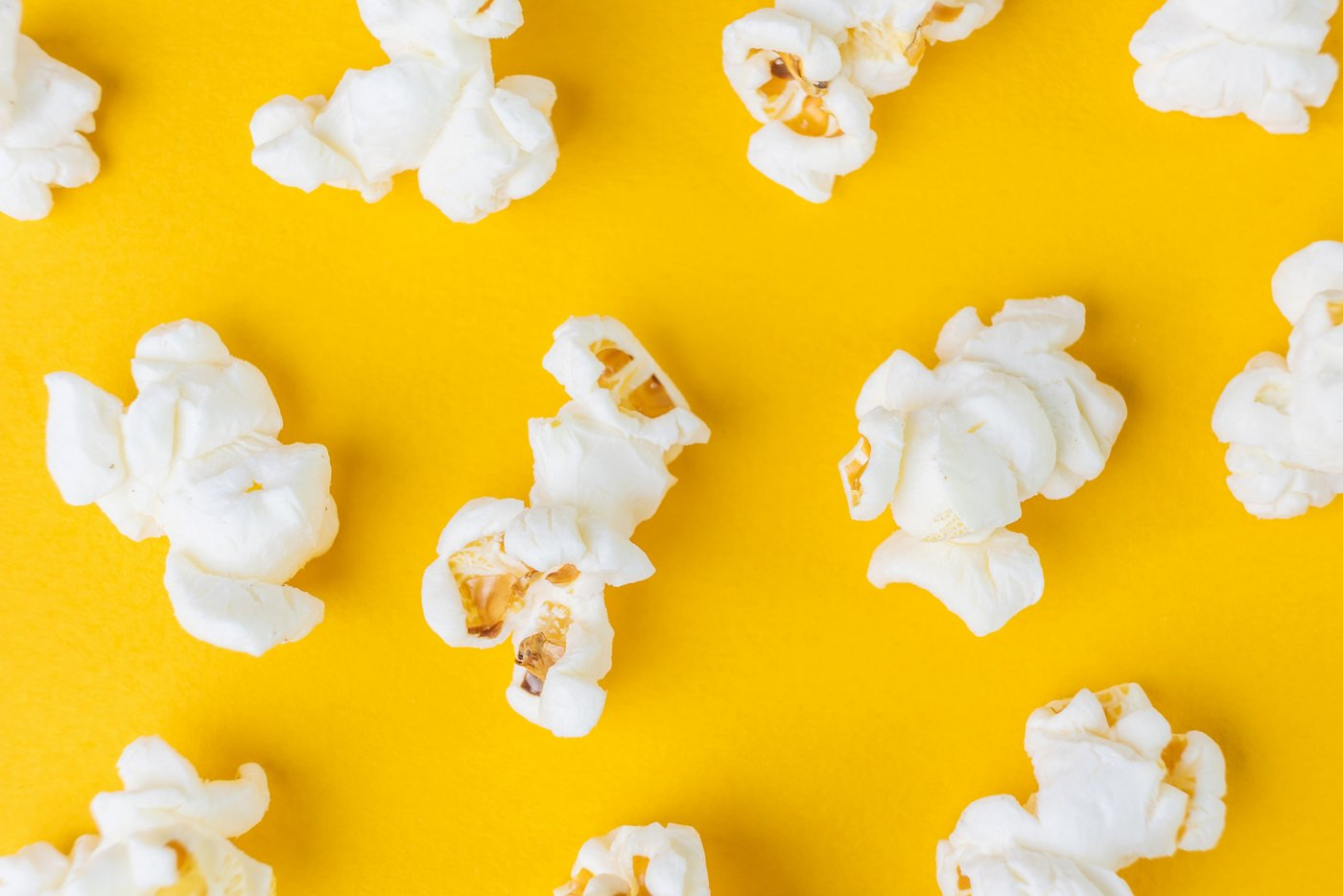 Popped kernels of popcorn