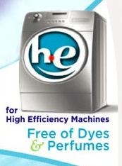 using non he detergent he machine