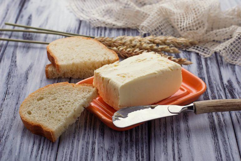 Fresh homemade butter