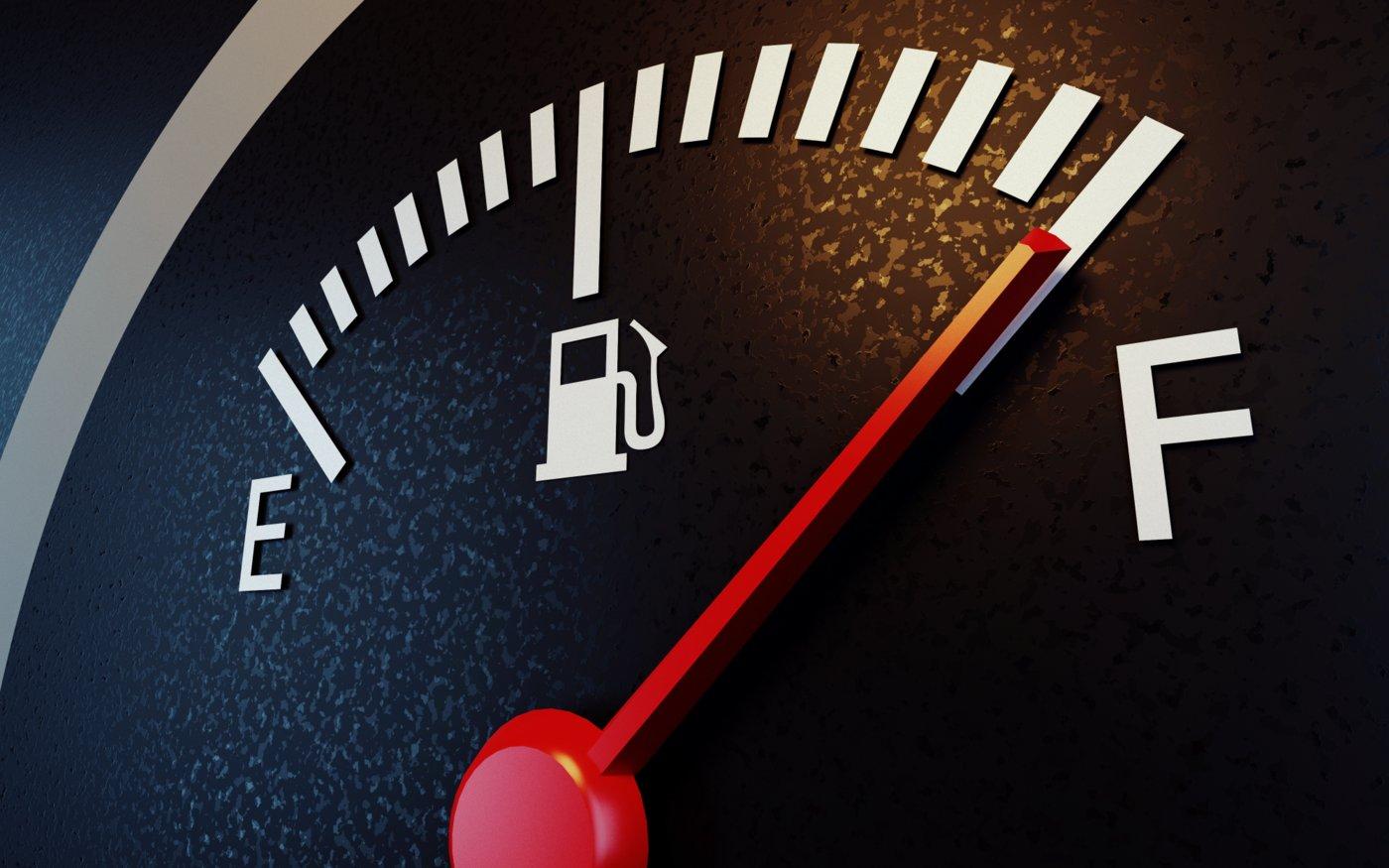 Gas gauge on full