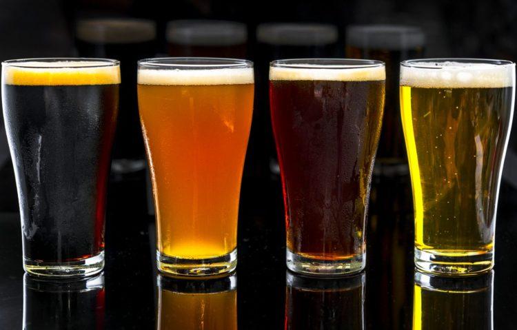 Pints of draft beer - 4 types
