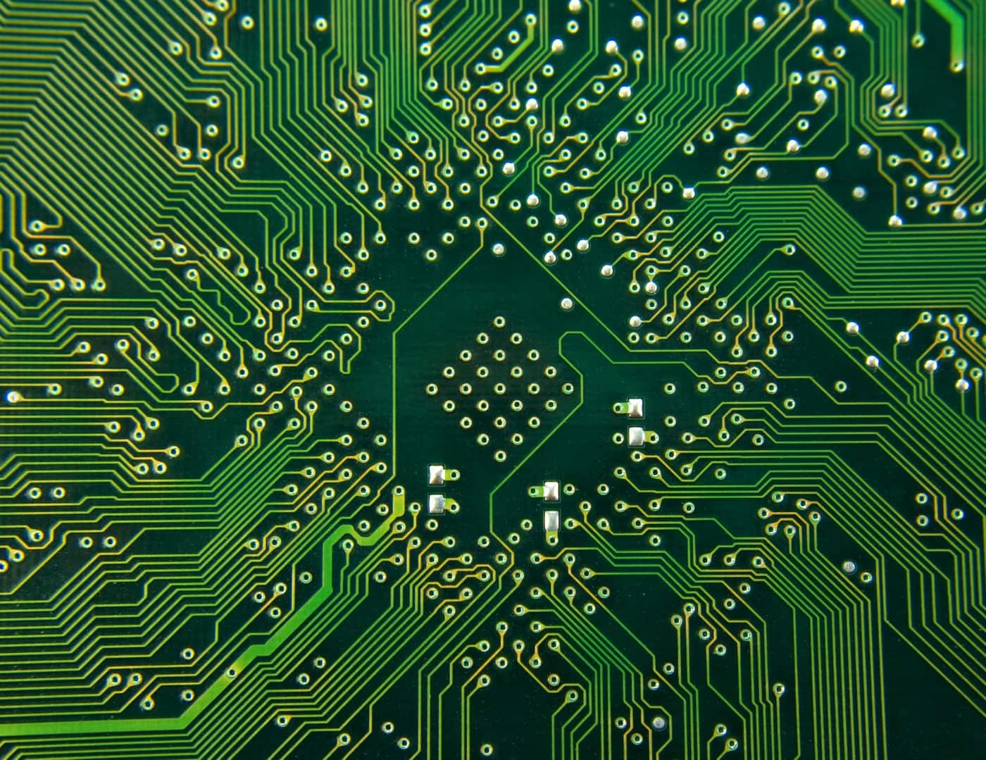 Printed computer circuit boards green