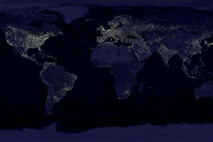 Earth at night in 2017 - NASA