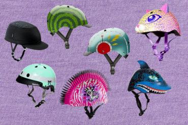 Fashionable bike helmets