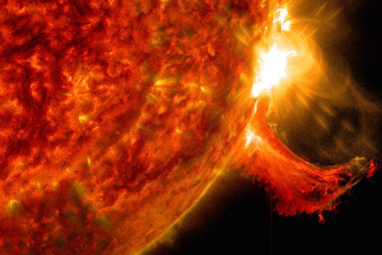 NASA's Solar Dynamics Observatory image of a solar flare 2014