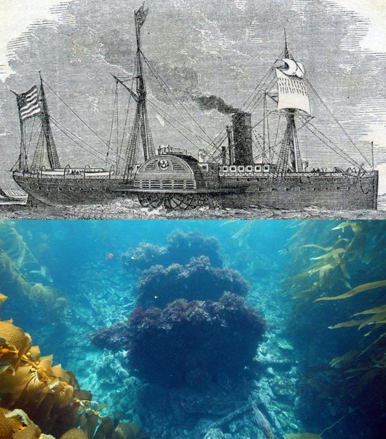 Shipwreck of The Winfield Scott - Photo by Robert Schwemmer, NOAA