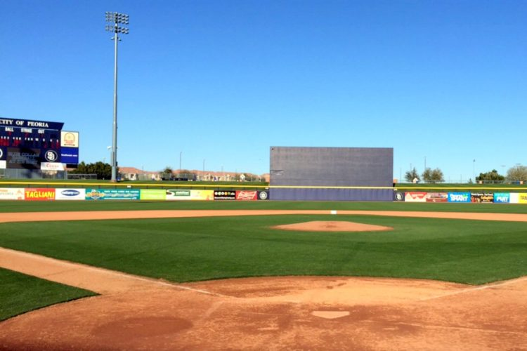 Spring training baseball games field - Peoria, Arizona