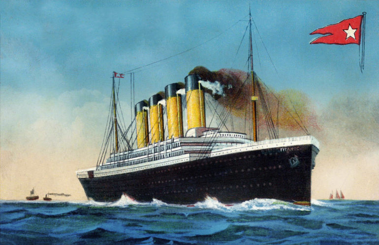 Where can you see real Titanic artifacts?