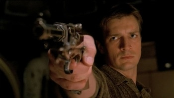 Castle's Nathan Fillion with a gun