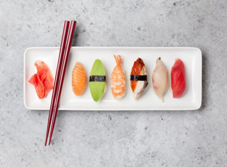 How can sushi be safe to eat?