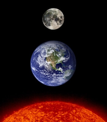 Why do the sun & moon seem to be the same size ...