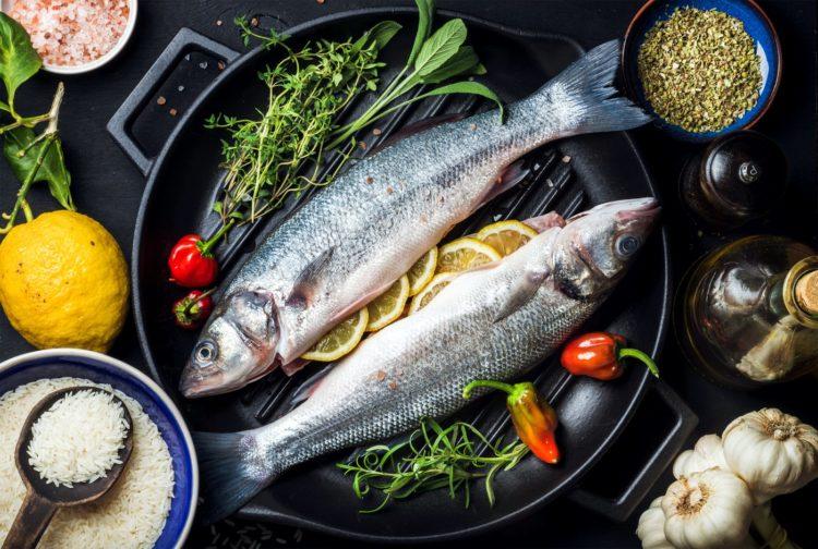 Preparing fish for dinner - Food in a frying pan