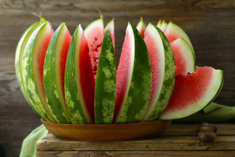 Ripe sweet good watermelon wedges