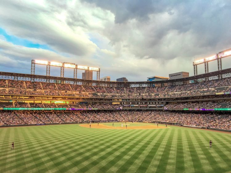 Colorado Rockies - Coors Field baseball grass photo by billnes via Twenty20