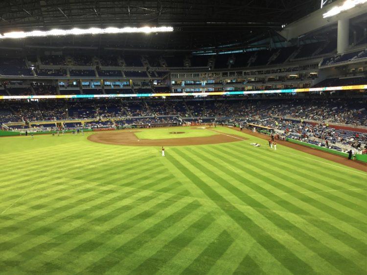 Miami Marlins baseball park - Grass lines photo by klovestorun via Twenty20
