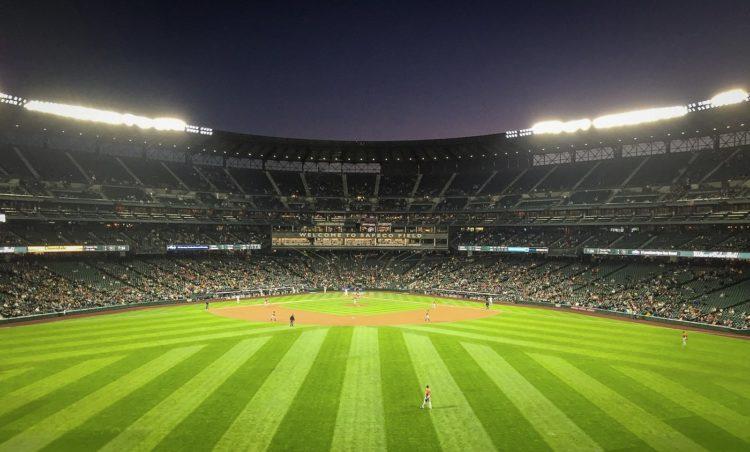 Safeco Field in Seattle - Baseball grass stripes photo by melissadoar via Twenty20