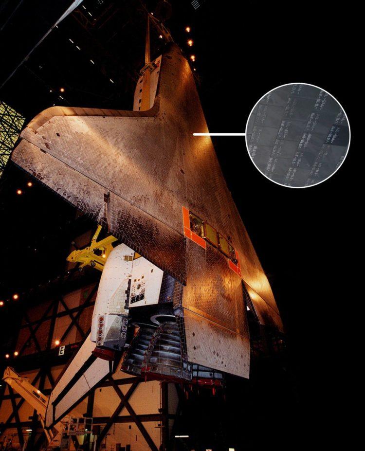 Underside Space Shuttle - Tiles