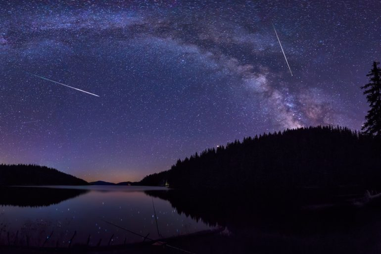 Where can you find out about upcoming meteor showers?