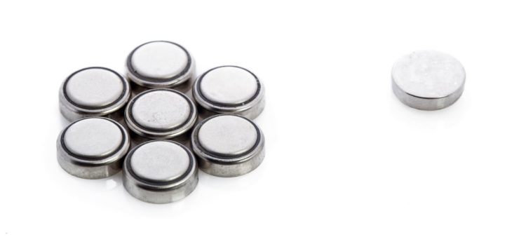 Round button batteries to recycle