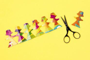 Paper dolls scissors