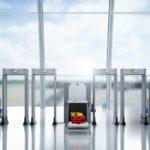 Airport security screening metal detectors