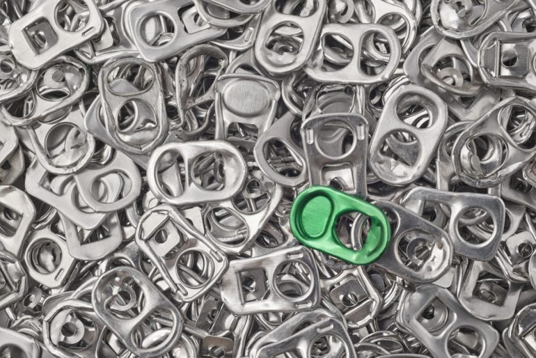 Aluminum soda can tabs
