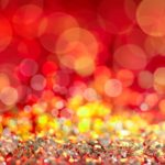 Bokeh photography effect - Christmas lights