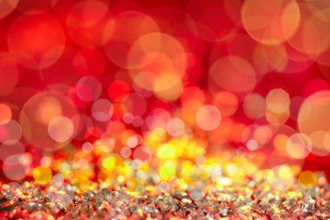 Bokeh photography effect - Christmas lights