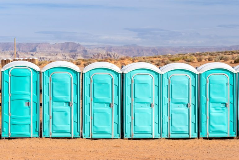 What's that blue liquid in a porta-potty?