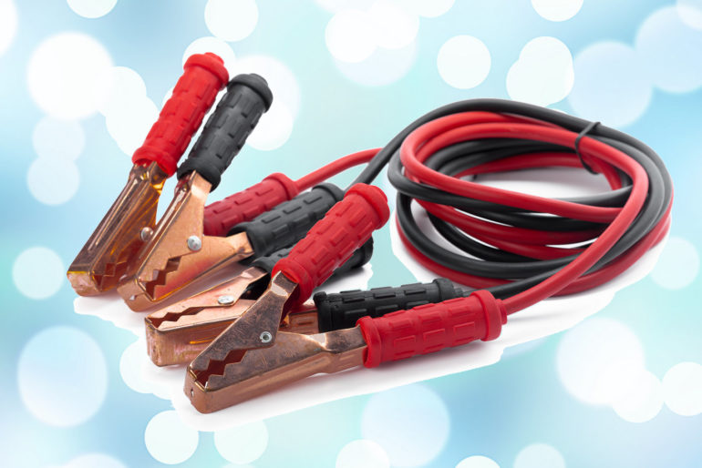 How do you connect jumper cables to jump start a car?