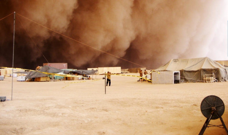 Dust storm in Iraq near the Syrian border in 2008