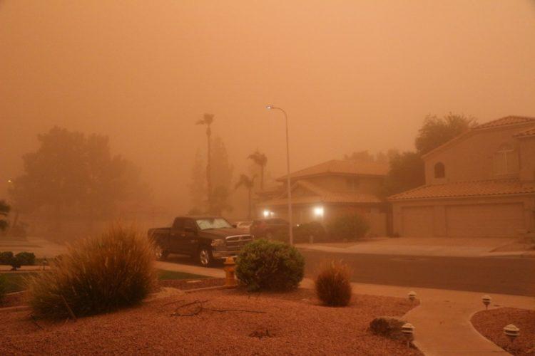 Inside a dust storm - haboob