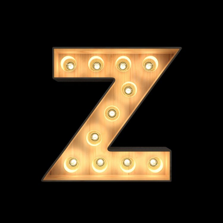 Marquee-style letter Z