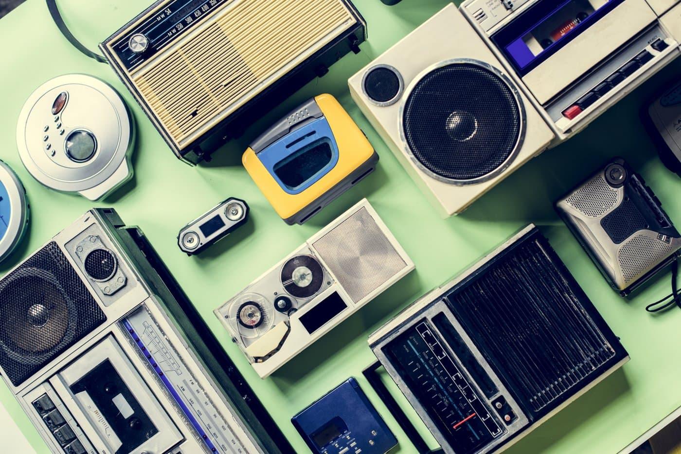 Vintage AM and FM radios