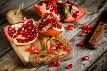 How do you eat a pomegranate
